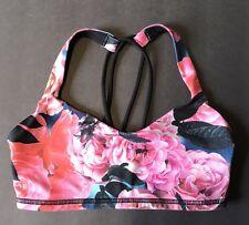 Lululemon Free To Be Secret Garden Sports Bra Size 4 EUC