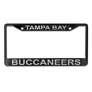 TAMPA BAY BUCCANEERS MIRRORED METAL LICENSE PLATE FRAME QUALITY DOMED GRAPHICS