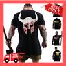 Viking Spartan Helmet T-Shirt Men's Workout Gym Fitness Bodybuilding Muscle Top