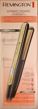 """Remington S6501 1"""" Ultimate Ceramic Flat Iron W Protection Against Frizz Smooth"""