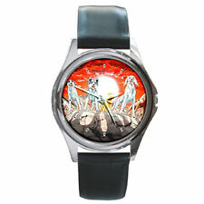 Weed my adorable pet family dogs anime leather watch