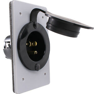 120V, 15A Straight Blade Power Inlet for 1-Gang FS FD Box NEMA 5-15P 5278-CWP