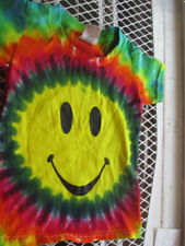 Kids Toddler Size 2 Multi-color Happy Baby Hand-dyed Tie Dye T-Shirt