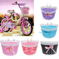 Bike Basket Front Bicycle Cycle Plastic Storage Cute Basket For Kids Children