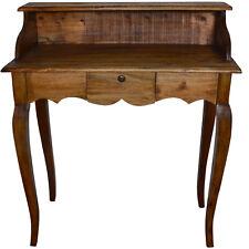 Sekretär Schreibtisch Antik Bürotisch Massivholz Vintage Braun Landhaus Retro