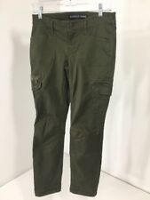 EXPRESS WOMEN'S SKINNY CARGO ANKLE PANTS MOSS GREEN SIZE 2 NWT $80