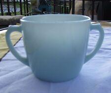Vintage Fire King / Anchor Hocking Delphite Turquoise Azurite Blue Sugar Bowl