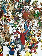 Vintage 90's Walt Disney Snow White Through 101 Dalmatian Movie Wall Art Poster