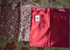 Silk brocade cushion covers elephants 18 x 18 lot of 2 NWT