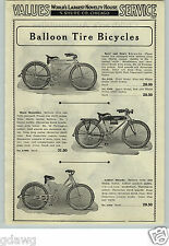 1933 PAPER AD Balloon Tire Bicycle Deluxe Pedal Car Skippy Racer Auburn Whippet