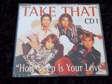 TAKE THAT, HOW DEEP IS YOUR LOVE, RARE CD SINGLE - 4 TRACKS (CD 1).