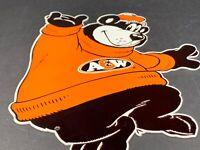 """VINTAGE A&W ROOT BEER BEAR 12"""" METAL DIE-CUT ADVERTISING SODA POP GAS OIL SIGN"""