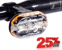 NEW TURA CYCLE FRONT SAFETY LIGHT - LED - 2 MODES - BIKE BICYCLE MTB ROAD