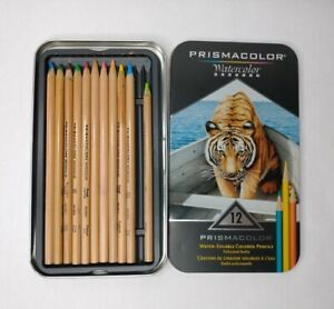 Prismacolor Watercolor Pencils Water Soluble Colored Pencils Tin Of 11