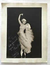 ORIGINAL HARRIET HOCTOR AUTOGRAPH PHOTO 11x14 1930s WARDROBE MISTRESS COLLECTION