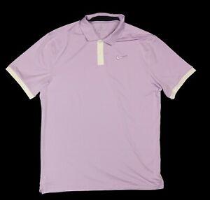 Nike Dri-Fit Vapor Golf Polo Standard Fit Lilac Mist Medium