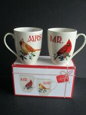 New ListingLenox Winter Greetings Mr. & Mrs. Mugs Home For The Holidays New In Box