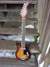 "Vintage Unknown Junior Sized 36"" Solid Body, RH Electric Guitar, Works !!! L@@K!"