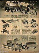 1970 ADVERT 4 Page Nylint Toy Truck Crane Bulldozer Structo VW & Camper