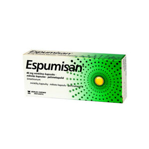 50 Caps ESPUMISAN For Gastrointestinal Disorders Meteorism Gases / 40 mg