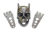 Chopper Bobberr Skull Headlight With Light in Eyes
