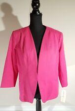 kate Rosy woman jacket blazer size xl cotton raspberry Pink lined hook close new