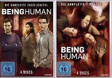 8 DVDs * BEING HUMAN - STAFFEL / SEASON 1 + 2 IM SET # NEU OVP $