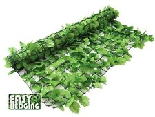 Artificial Ivy Leaf Hedge Privacy Screening Garden Wall Fence Panel Roll 3m x 1m