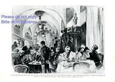 Romanisches Cafe Berlin XL Kunstdruck 1929 von R. Duschek Europa Center Kunst -