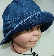 KU 49 50 51 52 53 Jeans Hut Sommer Sonnenhut Übergang Jungen Mädchen Kinder blau