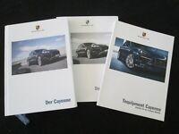 2012 Porsche Cayenne S Hybrid Turbo GERMAN Sales Brochure Euro Price Catalog Set
