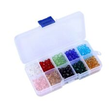 150X Crystal Glass Bicone Beads 10mm Mix Colours Beading Jewellery Making Craft