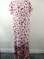 Gerry Weber bnwt maxi dress size 20.Cream & multi floral long party RRP.£150