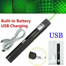 200Mile 532nm 303 Usb Rechargeable Green Laser Pointer Star Cap Bright Lazer Pen