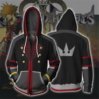 Kingdom Hearts 2 Sora Hoodie Sweatshirt 3D Cosplay Costume Zip-Up Coat Jacket