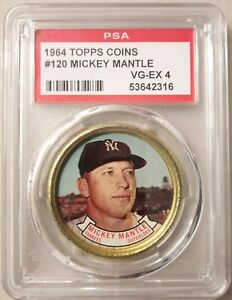 1964 Topps coins #120 Mickey Mantle - PSA 4