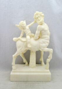 CENTAUR & CUPID MYTHOLOGY GREEK/ROMAN CAST MARBLE STATUE SCULPTURE 23.5CM HIGH