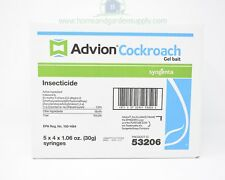 2 Cases of Advion Cockroach Roach Gel Packs 40 Tubes 10 Plungers 20 Tips Total
