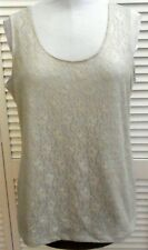 CHICO'S TANK TOP size 3/16 Gray Lace Floral Sleeveless Women's