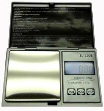 100 x.01g Digital Milligram Scale Silver Pocket Scale 6 Modes Lab Scale w/Rebate