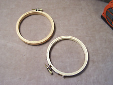 """Wood Embroidery Rings - 4"""" - Used"""