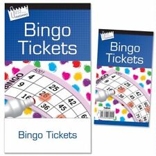 600 Bingo Game Single Ticket Card Flyer Pads Book 100 Sheet party numbers