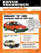 RTA revue technique automobile N° 501 RENAULT 19 R19 1400 1.4