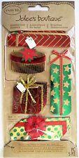 Vintage Glitter Christmas Presents Parcel Jolee's 3D Stickers