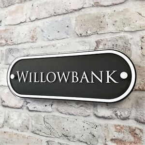 House Address Plaques Door Number Signs Contemporary Personalised Name Plates