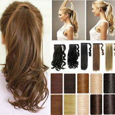 New Package 24 long Curly Ponytail Clip In ribbon Ponytail Hair Extensions US t8