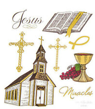 2 Sheets Religious Cross Church Stickers Papercraft Planner Faith Bible Journal