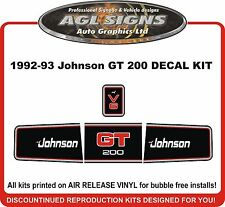 1992 1993 JOHNSON 200 GT  V6 OUTBOARD DECAL KIT REPRODUCTIONS