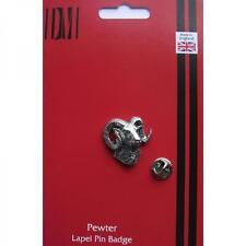 Silver Moulton Ram Pewter Lapel Pin Badge Handmade In England Sheep Badges New