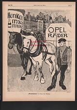 WIESBADEN-BIEBRICH RÜSSELSHEIM Anzeige 1898 Henkell & Co A. Opel AG Sekt Fahrrad
